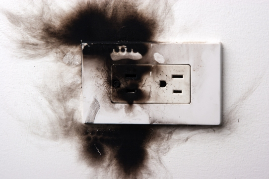 Charred Electrical Outlet